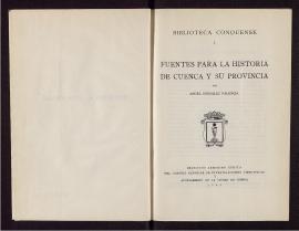 Fuentes para la historia de Cuenca y su provincia