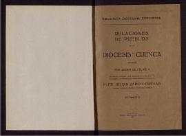 Relaciones de pueblos del Obispado de Cuenca hechas por orden de Felipe II