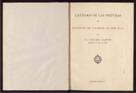 Catálogo de las pinturas del Instituto de Valencia de Don Juan