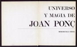 Universo y magia de Joan Ponç