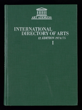 International directory of arts