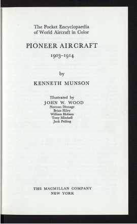 Pioneer aircraft, 1903-1914