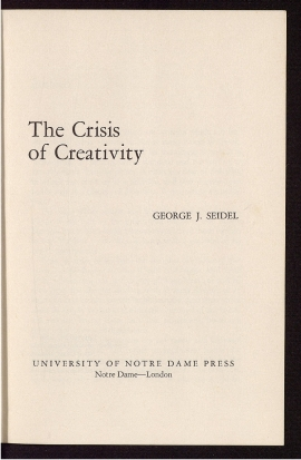 The Crisis of creativity