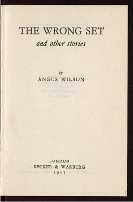The Wrong set and other stories