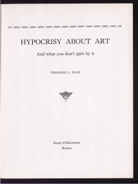 Hypocrisy about art