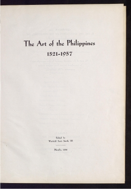 The Art of the Philippines, 1521-1957