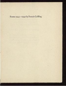 Poems, 1943-1949