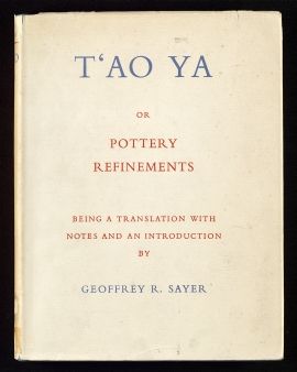 T'ao ya, or pottery refinements