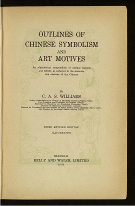 Outlines of Chinese symbolism and art motives
